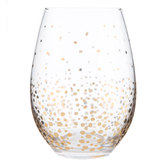 Gold Confetti Drinking Glass
